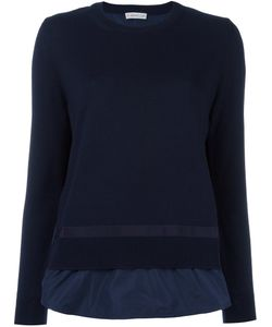 Moncler | Layered Effect Knit Sweater Large Polyester/Virgin Wool