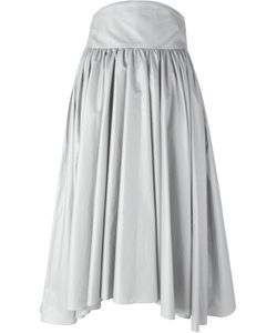 Olympia Le-Tan | Pleated A-Line Skirt 40 Cotton