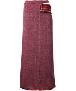 ECKHAUS LATTA | Checked Detail Wrap Skirt Xs/S Cotton/Polyester