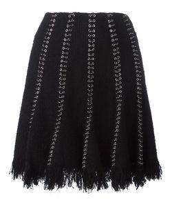 Alexander Wang | Ring Pierced Skirt 0 Cotton/Nylon/Polyester/Virgin Wool