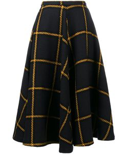 Jour/Né | Flared Checked Skirt 40 Acrylic/Polyester/Wool