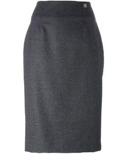 Cavalli Class | Pencil Skirt 40 Polyester/Acetate/Virgin Wool