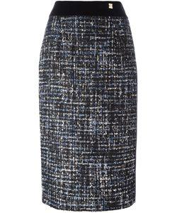 Cavalli Class | Tweed Pencil Skirt 42 Cotton/Polyamide/Polyester/Wool