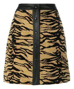Adam Lippes | Tiger Print Skirt 6 Silk/Cotton/Acrylic