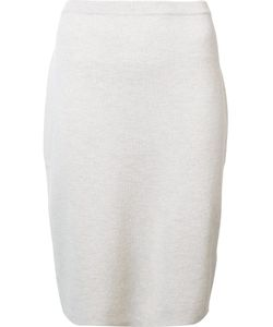Eileen Fisher | Knitted Pencil Skirt Large Wool
