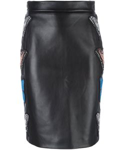 Philipp Plein | Embroidered Butterfly Pencil Skirt Xl Lamb