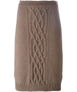 Agnona | Knitted Skirt 40 Cashmere/Wool