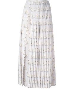Stella Mccartney | Domiziana Swan Print Skirt 42 Silk