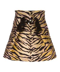Kenzo | Tiger Stripes Skirt 36 Silk/Cotton/Acrylic/Wool
