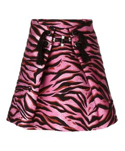 Kenzo | Tiger Stripes Skirt 38 Silk/Cotton/Acrylic/Wool