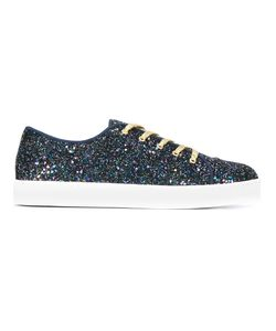 Charlotte Olympia | Glitter Sneakers 39 Calf Leather/Leather/Rubber