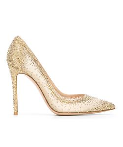 Gianvito Rossi | Embellished Pumps 41 Leather/Nylon/Metal
