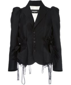 Dsquared2 | Lace Trim Smocking Jacket 38 Silk/Polyamide/Polyester/Wool