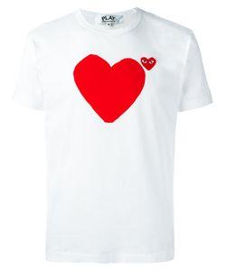 Comme des Gar ons Play | Comme Des Garçons Play Logo Print T-Shirt Medium