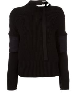 Sacai | Buckle Collar Jumper 3 Polyester/Cupro/Wool