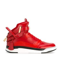 Buscemi | Buckled Hi-Top Sneakers 9 Calf Leather/Leather/Rubber