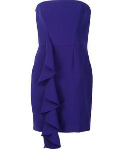 Jay Godfrey | Ruffled Strapless Dress 4 Polyester/Polyurethane