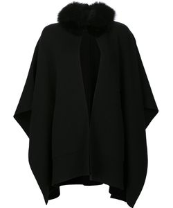 Sofia Cashmere | Cape Coat Fox Fur/Cashmere