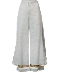 Undercover | Wide Leg Cropped Pants 2 Cupro/Wool