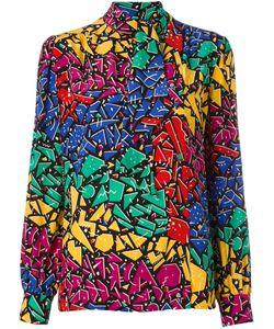Saint Laurent | 80s Graffiti Print Shirt 40 Silk