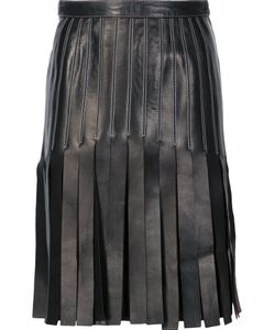 Mugler | Strappy A-Line Skirt 38 Lamb Skin