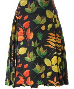 Arthur Arbesser | Leaf Print A-Line Skirt 42 Polyester/Spandex/Elastane/Viscose