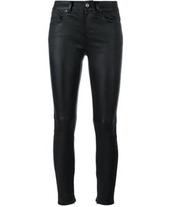 Saint Laurent | Slim Fit Leather Trousers 34 Cotton/Lamb