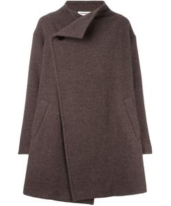 Plantation | Dislocated Fastening Coat Medium Nylon/Cupro/Wool