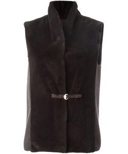 Manzoni 24   Dunkel Vest 42 Silk/Mink Fur/Acetate/Cashmere