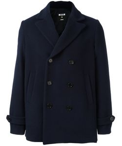 MSGM | Double Breasted Peacoat 46 Cotton/Polyamide/Polyester/Virgin Wool