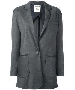 Semicouture | Patch Pocket Blazer 42 Polyester/Spandex/Elastane/Rayon/Virgin Wool