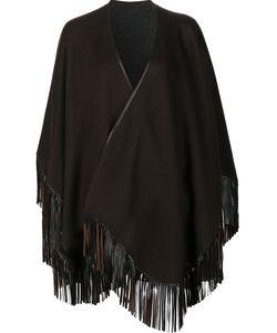 Sofia Cashmere | Fringed Cape Leather/Cashmere