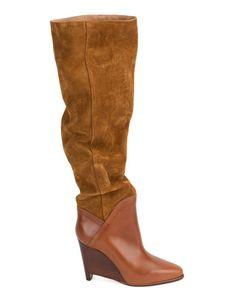 Maison Margiela | Wedge Knee High Boots 38.5 Calf
