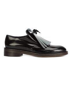 Marni | Fringed Vamp Loafers 39 Calf Leather/Leather/Acrylic/Rubber