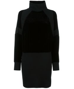 DKNY | Velvet Panel Dress Small Silk/Viscose/Merino