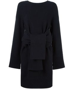 3.1 Phillip Lim | Belted Knit Dress Medium Polyester/Wool/Spandex/Elastane