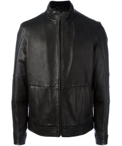 Michael Kors | Zipped Leather Jacket Medium Leather/Polyester