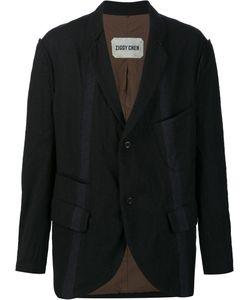 ZIGGY CHEN | Striped Blazer 44 Cotton/Nylon/Wool