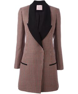 Lanvin | Houndstooth Patterned Coat 36 Cotton/Viscose/Wool