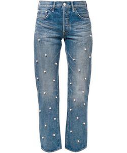TU ES MON TRESOR | Embellished Straight Leg Jeans 1