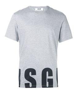 MSGM | Logo Print T-Shirt Small Cotton