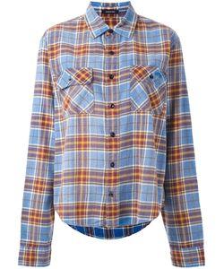 R13   Plaid Shirt Medium Cotton