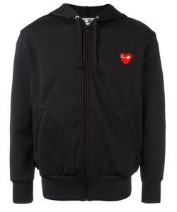Comme des Gar ons Play | Comme Des Garçons Play Embroidered Heart Hoodie Small
