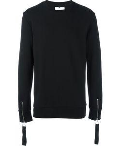 MATTHEW MILLER   Zipped Cuff Sweatshirt Small Cotton