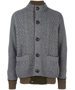 Sacai | Layered Effect Cardigan 3 Cotton/Polyester/Wool
