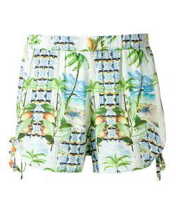 BLUE MAN | Printed Shorts Medium Lyocell