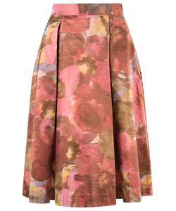 GLORIA COELHO | Printed Midi Skirt 38 Silk