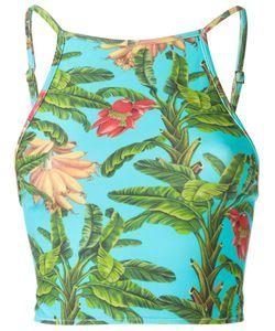 BLUE MAN   Printed Bustier Bikini Top Medium Lyocell