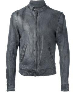 Pihakapi | Zipped Band Collar Jacket Medium Lamb Skin/Viscose