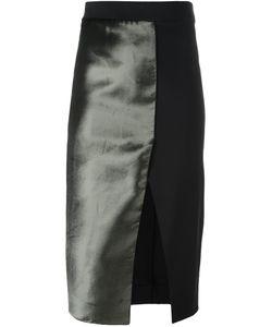 SSHEENA   Split Front Satin Skirt 42 Nylon/Viscose